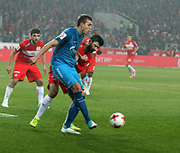16 apr. 2017. Football stadium SPARTAK OTKRYTIE ARENA (Opening of the Arena). Championship of Russia 2016-2017. FC SPARTAK MOSCOW vs FC ZENIT St-Peterburg. 22. DZYUBA Artyom (ZENIT St-Peterburg) vs 35. TASCI Serdar ( SPARTAK Moscow). <br /> <br /> Norway only
