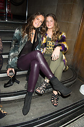 Left to right, LADY JEMIMA HERBERT and LADY KATIE HERBERT at the Veuve Clicquot Widow Series launch party hosted by Nick Knight and Jo Thornton MD Moet Hennessy UK held at The College, Central St.Martins, 12-42 Southampton Row, London on 29th October 2015.