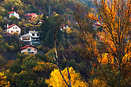 Village of Hrabrino in autumn time