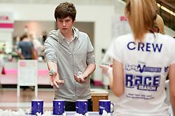 "Cadburys Spots vs Stripes Challenge Race Season Meadowhall Sheffield.""Fastest Tea Maker"" Challenger Joseph Wood from Chesterfield.2 April 2011.Images © Paul David Drabble"