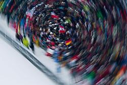01.01.2011, Große Olympiaschanze, Garmisch Partenkirchen, GER, Vierschanzentournee, Garmisch Partenkirchen, 1. Wertungsdurchgang, im Bild // FEature Zuschauer, Wischer, Kreis um eine Österreich Flagge // during the 59th Four Hills Tournament First Jump in Garmisch Partenkirchen, EXPA Pictures © 2011, PhotoCredit: EXPA/ J. Feichter