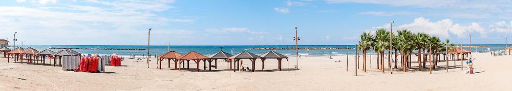 Bugrashov Beach Panorama, Tel Aviv Israel