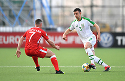 Republic of Ireland's Enda Stevens (right) in action during the UEFA Euro 2020 Qualifying, Group D match at the Victoria Stadium, Gibraltar.