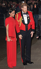 Harry and Meghan attend the Mountbatten Festival of Music - 7 March 2020