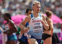 Athletics - 2017 IAAF London World Athletics Championships - Day Two (AM Session)<br /> <br /> Event: Mens 800m - Round 2<br /> <br /> Kyle Langford (GBR) <br /> <br /> <br /> COLORSPORT/DANIEL BEARHAM