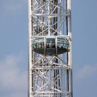 Europe, United Kingdom, England, London. The London Eye Ferris Wheel.