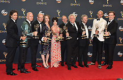 Cast & Crew of 'The People v. O. J. Simpson: American Crime Story', winners of Outstanding Limited Series, pose in the press room during the 68th Annual Primetime Emmy Awards at Microsoft Theater on September 18, 2016 in Los Angeles, CA, USA. Photo by Lionel Hahn/ABACAPRESS.COM