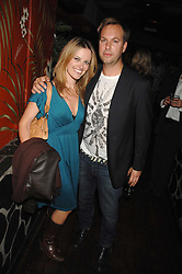 GAVIN MYALL and SILVIA PINI at a party to celebrate the launch of Independent (Formerly ICM) held at Mahiki, 1 Dover Street, London W1 on 17th September 2007.<br />