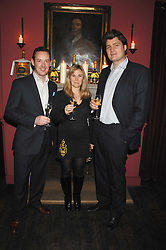 Left tp right, PATRICK SHELLEY of Ruinart and NICK & BEATRICE WALDUCK at a dinner hosted by Ruinart in honour of artist Natasha Law held at Soho House, 21 Old Compton Street, London on 16th January 2008.<br /> <br />  (EMBARGOED FOR PUBLICATION IN UK MAGAZINES UNTIL 1 MONTH AFTER CREATE DATE AND TIME) www.donfeatures.com  +44 (0) 7092 235465