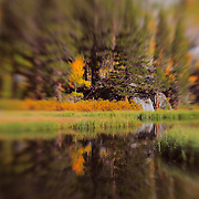 Weir Lake -  Fall Color - Lensbaby