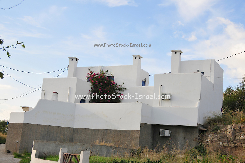 Greece, Rhodes, Moden whitewashed housing complex