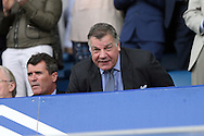 England Manager Sam Allardyce takes his seat in the stands next to Ireland Assistant Manager Roy Keane (l) as they watch the match.  Premier league match, Everton v Stoke city at Goodison Park in Liverpool, Merseyside on Saturday 27th August 2016.<br /> pic by Chris Stading, Andrew Orchard sports photography.