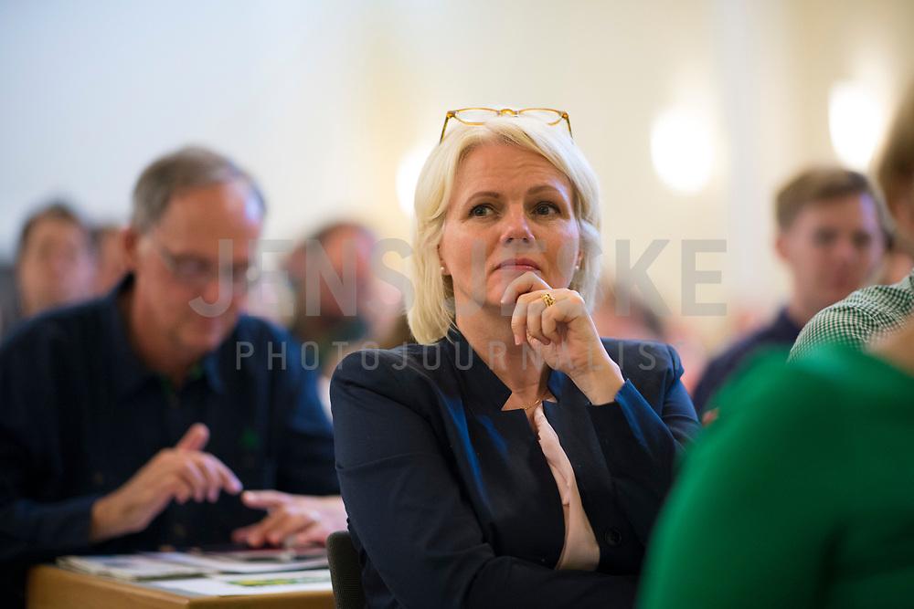 DEU, Deutschland, Germany, Berlin, 21.04.2018: Berlins Umweltsenatorin Regine Günther (parteilos/für die Grünen) bei der Landesdelegiertenkonferenz von Bündnis 90/Die Grünen in Berlin-Adlershof.