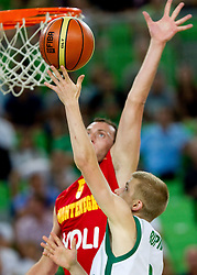 Luka Rupnik of Slovenia during friendly basketball match between National teams of Slovenia and Montenegro of Adecco Ex-Yu Cup 2011 as part of exhibition games before European Championship Lithuania 2011, on August 7, 2011, in Arena Stozice, Ljubljana, Slovenia. Slovenia defeated Crna Gora 86-79. (Photo by Vid Ponikvar / Sportida)