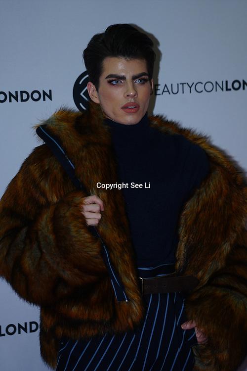 Olympia London,UK, 2nd Dec 2017. Jonysios attends the BeautyCon London.