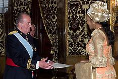 OCT 9 2012 King Juan Carlos & Bianca Olivia Odumegwu-Ojukwu