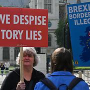 anti-Brexit protest in Parliament square
