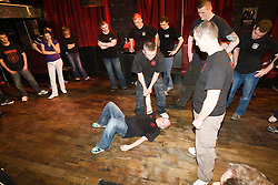 First ever nightclub self defence class held in Glasgow, in the Buff Club, organised by the Institute of Krav Maga Scotland..©2010 Michael Schofield. All Rights Reserved.