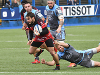 Rugby Union - 2018 / 2019 European Rugby Champions Cup - Pool Three: Cardiff Blues vs. Lyon<br /> <br /> Alexis Palisson; of Lyon attacks, at Cardiff Arms Park.<br /> <br /> COLORSPORT/WINSTON BYNORTH