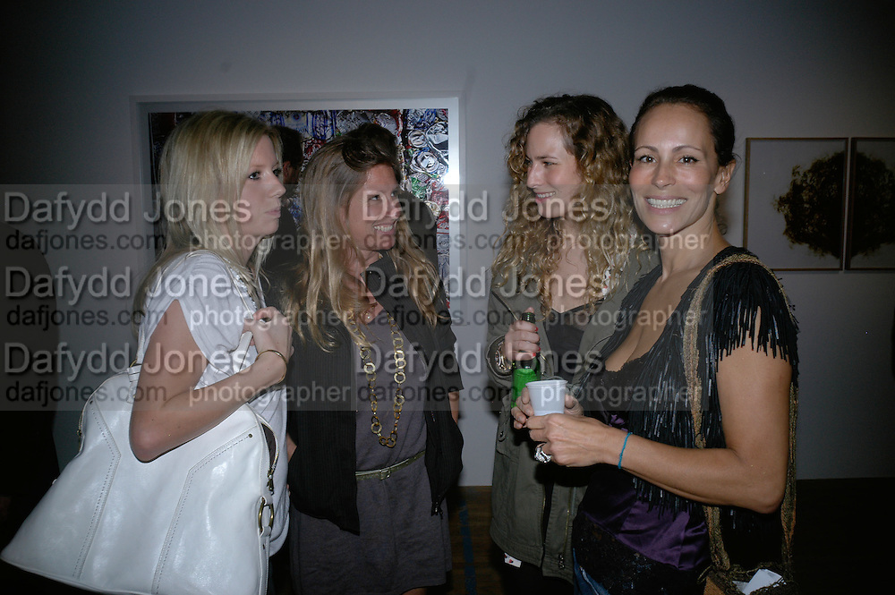 LUCINDA COOK, SERENA COOK, CHARLOTTE DELLAL AND ANDREA DELLAL,  Twenty Hoxton Square. Opening exhibition of new gallery at Twenty Hoxton Square. -DO NOT ARCHIVE-© Copyright Photograph by Dafydd Jones. 248 Clapham Rd. London SW9 0PZ. Tel 0207 820 0771. www.dafjones.com.