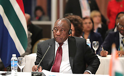 November 30, 2018 - Buenos Aires, Russia - November 30, 2018. - Argentina, Buenos Aires. - President of South Africa Cyril Ramaphosa at the BRICS Leaders' meeting held on the sidelines of the G20 summit in Buenos Aires. (Credit Image: © Russian Look via ZUMA Wire)