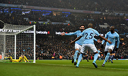 Manchester City's Ilkay Gundogan celebrates scoring his side's first goal of the game