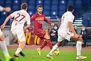 Foto Fabio Rossi/AS Roma/LaPresse<br /> 17/12/2020 Roma (Italia)<br /> Sport Calcio<br /> Roma-Torino<br /> Campionato Italiano Serie A TIM 2020/2021 - Stadio Olimpico<br /> Nella foto: Leonardo Spinazzola<br /> <br /> Photo Fabio Rossi/AS Roma/LaPresse<br /> 17/12/2020 Rome (Italy)<br /> Sport Soccer<br /> Roma-Torino<br /> Italian Football Championship League Serie A Tim 2020/2021 - Olimpic Stadium<br /> In the pic: Leonardo Spinazzola