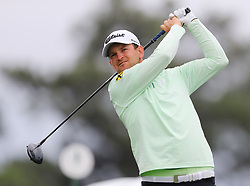 April 7, 2018 - Augusta, GA, USA - Bernd Wiesberger hits from the 1st tee during the third round of the Masters Tournament on Saturday, April 7, 2018, at Augusta National Golf Club in Augusta, Ga. (Credit Image: © Curtis Compton/TNS via ZUMA Wire)