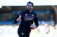 A big thumbs up from Norwich City goalkeeper Tim Krul (1)  during the EFL Sky Bet Championship match between Wycombe Wanderers and Norwich City at Adams Park, High Wycombe, England on 28 February 2021.