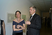 MARGOT HELLER; NEIL WENMAN; , Reception of the Silent Auction for the South London Gallery.  Hauser and Wirth. Savile Row. London. 13 October 2011. <br /> <br />  , -DO NOT ARCHIVE-© Copyright Photograph by Dafydd Jones. 248 Clapham Rd. London SW9 0PZ. Tel 0207 820 0771. www.dafjones.com.
