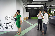 Working at a start up incubator park in Hangzhou, China on 12 September 2014.