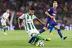 August 20, 2017 - Barcelona, Catalonia, Spain - Nahuel Leiva during the match between FC Barcelona vs Real Betis Balompie, for the round 1 of the Liga Santander, played at Camp Nou Stadium on 20th August 2017 in Barcelona, Spain. (Credit Image: © Urbanandsport/NurPhoto via ZUMA Press)
