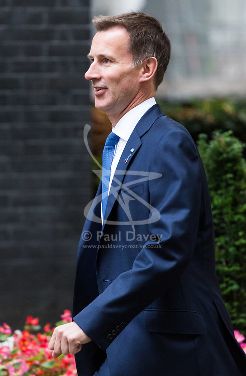 London, October 10 2017. Health Secretary Jeremy Hunt attends the UK cabinet meeting at Downing Street. © Paul Davey