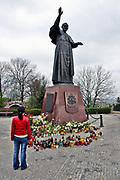 Pomnik papieża św. Jana Pawła II, Częstochowa<br /> Statue of Pope John Paul II, Czestochowa, Poland