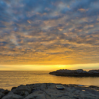 Coastal New England featuring the seascape of Cape Neddick captured at sunrise in York, ME. Loved watching this sunrise become alive and capturing the boat on the rocks and the beautiful sky Atlantic Ocean scenery.  Early morning is my favorite time of the day, when I can enjoy quietude and solitude.<br /> <br /> Cape Neddick fine art photography is available as museum quality photography prints, canvas prints, acrylic prints or metal prints. Prints may be framed and matted to the individual liking and room decor needs:<br /> <br /> https://juergen-roth.pixels.com/featured/cape-neddick-juergen-roth.html<br /> <br /> My best,<br /> <br /> Juergen<br /> Prints: http://www.rothgalleries.com<br /> Photo Blog: http://whereintheworldisjuergen.blogspot.com<br /> Instagram: https://www.instagram.com/rothgalleries<br /> Twitter: https://twitter.com/naturefineart<br /> Facebook: https://www.facebook.com/naturefineart