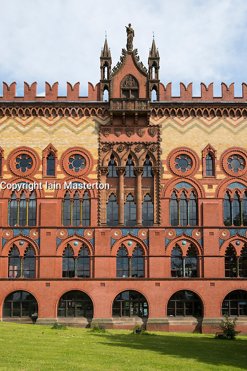 Exterior of Templeton Business Centre, former carpet factory,  in Glasgow, Scotland, United Kingdom ; designed by William Leiper