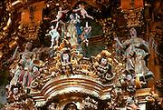 MEXICO, GUANAJUATO La Valenciana Church altar, 1765