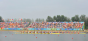 Shunyi, CHINA. Men's eights final,  winning the Silver  medal at the 2008 Olympic Regatta, Shunyi Rowing Course.  Sun 17.08.2008.  [Mandatory Credit: Peter SPURRIER, Intersport Images