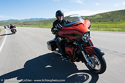 John Green of Colorado Springs, CO and member of Pikes Peak HOG Chapter on his 2017 CVO Street Glide riding from Steamboat Springs back to Denver after the Rocky Mountain Regional HOG Rally, Colorado, USA. Sunday June 11, 2017. Photography ©2017 Michael Lichter.