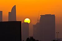 Dubai skyline at sunset, Dubai, United Arab Emirates