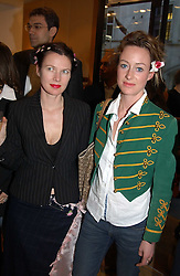 "Left to right, PIP HACKETT and LORIEN HAYNES at a book signing hosted by Tod's for Dante Ferretti's new book 'The Art of Production Design"" held at the Tod's store, 2/3 Old Bond Street, London on 19th April 2005.<br />