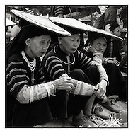 Portrait of ethnic minority in Bao Lac market, a city of north Vietnam, Asia