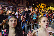 Young fans crowd the overspill area for Tei Shi and Max Frost at Stubb's in Austin, Texas during SXSW.