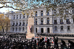 The annual Remembrance Sunday Service at the Cenotaph memorial in Whitehall, central London, held in tribute for members of the armed forces who have died in major conflicts.