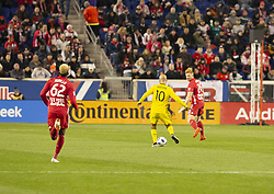 STYLEPREPENDFederico Higuain (10) of Columbus Crew SC controls ball during 2nd leg MLS Cup Eastern Conference semifinal game against Red Bulls at Red Bul Arena Red Bulls won 3 - 0 agregate 3 - 1 and progessed to final  (Credit Image: © Lev Radin/Pacific Press via ZUMA Wire)