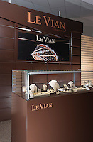 Interior image of LeVian Chocolatier diamond retail display at jewelery store by Jeffrey Sauers of Commercial Photographics