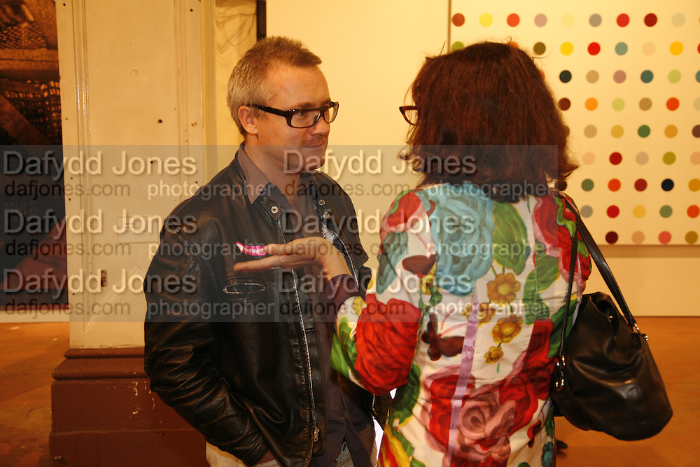 Damien Hirst and Sophie Calle, Works donated to the auction at Sotheby's on 13 October  viewed at the Ifirst  exhibition in the new Raw Commissions Gallery. Whitechapel Gallery. 25 September 2006. -DO NOT ARCHIVE-© Copyright Photograph by Dafydd Jones 66 Stockwell Park Rd. London SW9 0DA Tel 020 7733 0108 www.dafjones.com