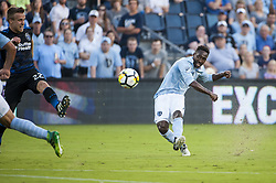 August 9, 2017 - Kansas City, Kansas, United States - Kansas City, KS - Wednesday August 9, 2017: Gerso Fernandes during a Lamar Hunt U.S. Open Cup Semifinal match between Sporting Kansas City and the San Jose Earthquakes at Children's Mercy Park. (Credit Image: © Amy Kontras/ISIPhotos via ZUMA Wire)