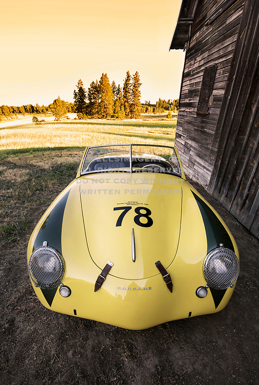 Image of Porsche's First Overall Race Winner, the 1952 Porsche America Roadster in the Palouse, Washington, Pacific Northwest by Randy Wells