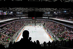 Arena Stozice during ice-hockey match between Slovenia and Hungary at IIHF World Championship DIV. I Group A Slovenia 2012, on April 18, 2012 in Arena Stozice, Ljubljana, Slovenia.  (Photo by Vid Ponikvar / Sportida.com)